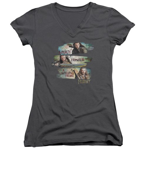 The Hobbit - Loyalty And Honour Women's V-Neck