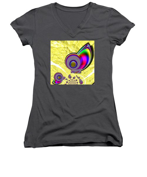 The Incompetent Nanny Women's V-Neck (Athletic Fit)