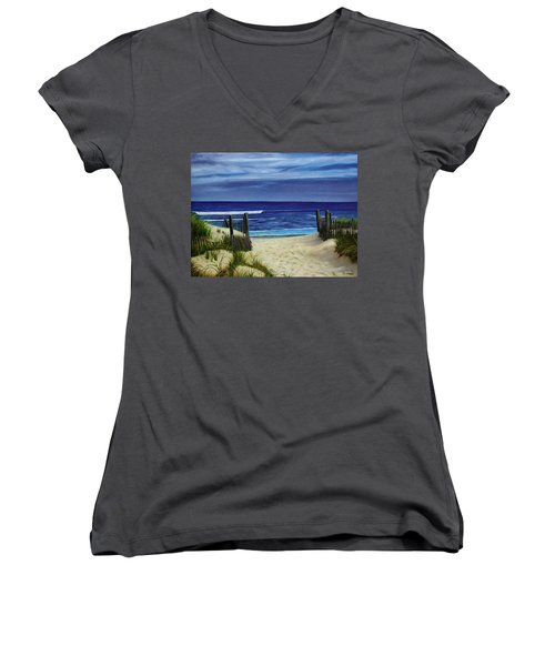 The Jersey Shore Women's V-Neck (Athletic Fit)