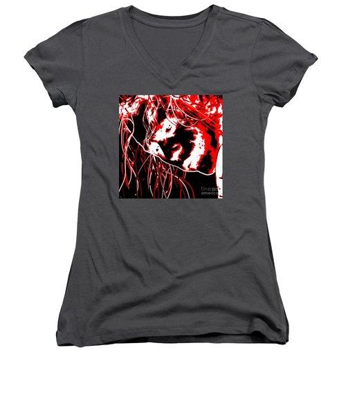The Joker Women's V-Neck T-Shirt (Junior Cut) by Daniel Janda