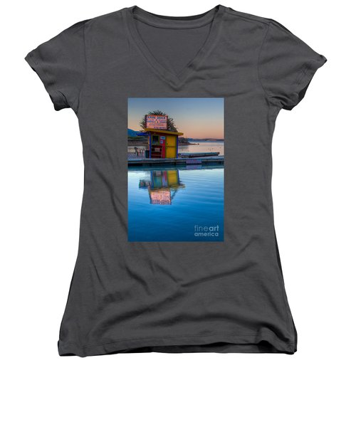 The Kayak Shack Morro Bay Women's V-Neck T-Shirt