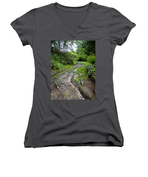 The Ledge Point Trail Women's V-Neck (Athletic Fit)
