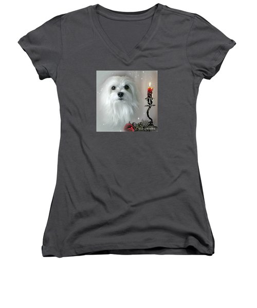The Light In My Life Women's V-Neck T-Shirt