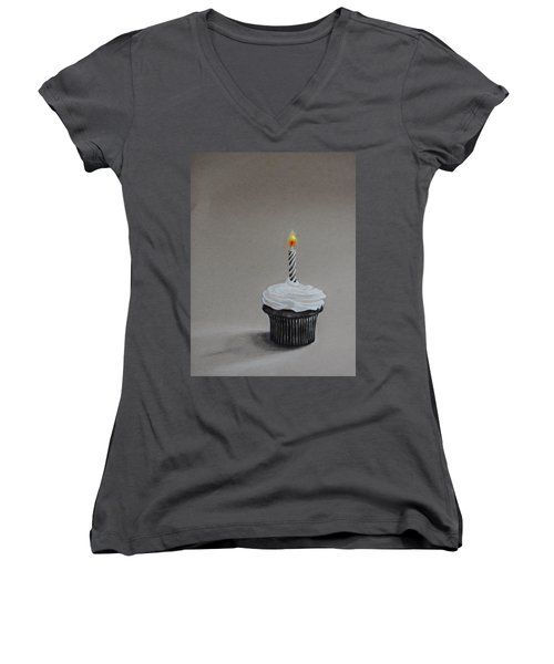 The Loneliest Birthday Ever Women's V-Neck T-Shirt (Junior Cut) by Jean Cormier