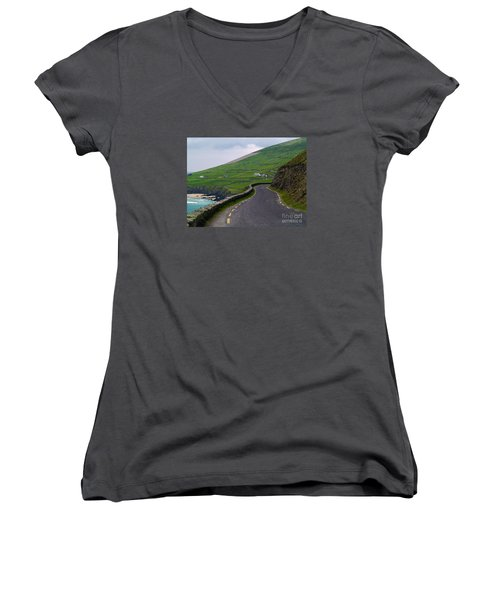 The Long And Winding Road Women's V-Neck (Athletic Fit)