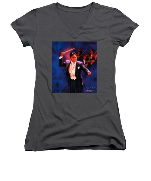 The Maestro Women's V-Neck T-Shirt (Junior Cut)