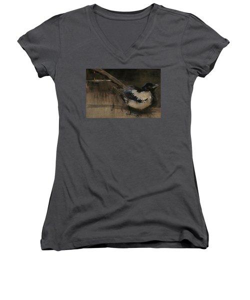 The Magpie Women's V-Neck T-Shirt