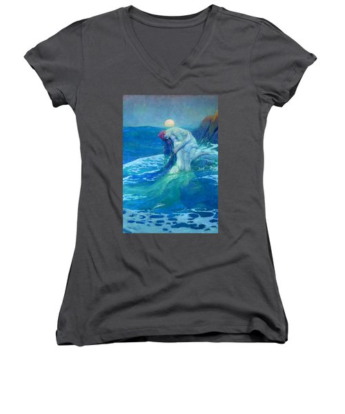 The Mermaid Women's V-Neck (Athletic Fit)