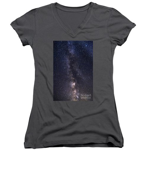 The Milky Way From Phippsburg Maine Usa Women's V-Neck T-Shirt