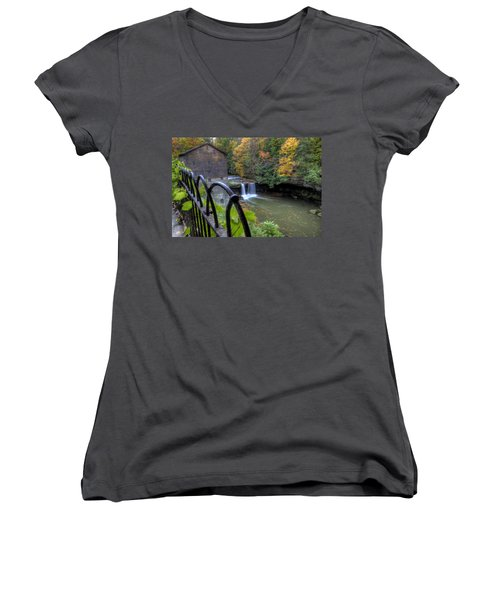 The Mill And Falls At Mill Creek Park Women's V-Neck