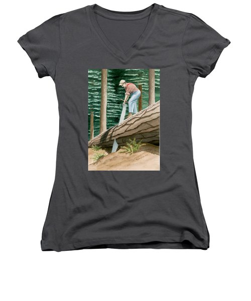 The Misery Whip Women's V-Neck (Athletic Fit)