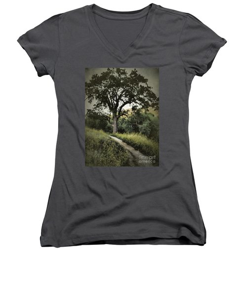 The Old Chumash Trail Women's V-Neck (Athletic Fit)