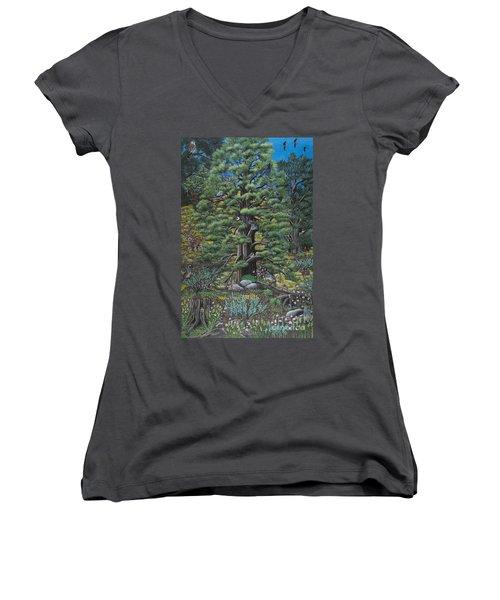 The Old Juniper Tree Women's V-Neck (Athletic Fit)