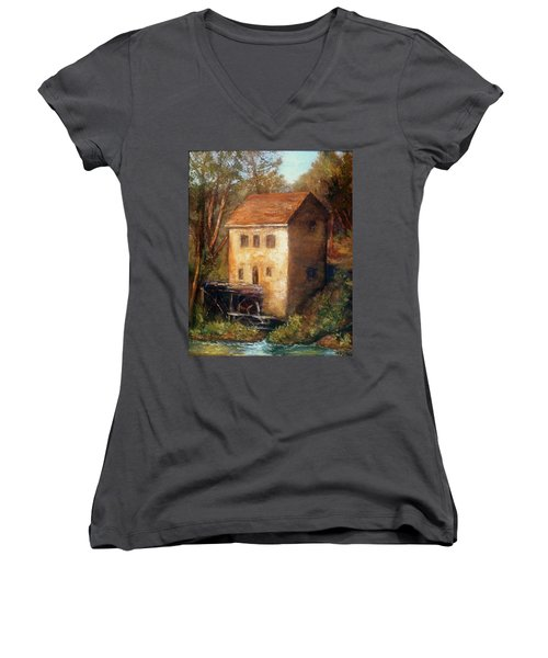 The Old Mill Women's V-Neck T-Shirt