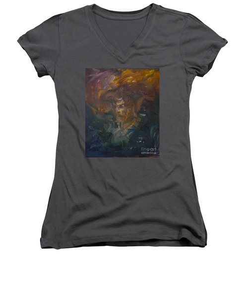 The Old Monarch Women's V-Neck T-Shirt