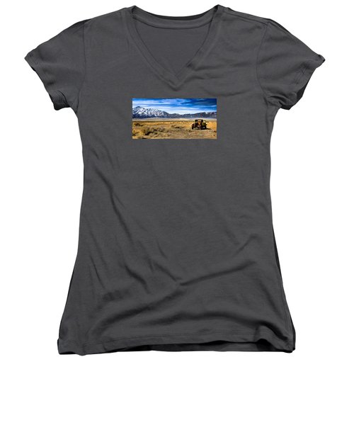 The Old One Women's V-Neck T-Shirt (Junior Cut) by Robert Bales