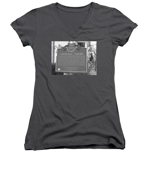 The Old Tavern II Women's V-Neck (Athletic Fit)