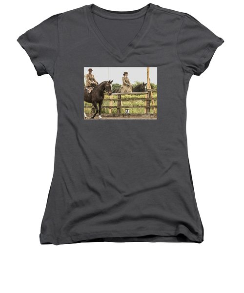 The Other Side Of The Saddle Women's V-Neck (Athletic Fit)