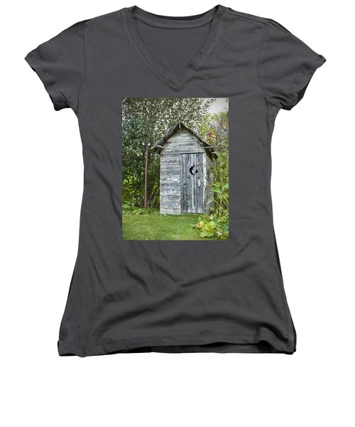 The Outhouse Women's V-Neck T-Shirt