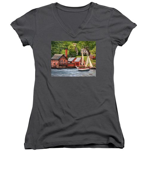 The Paint Factory And The Ardelle Women's V-Neck T-Shirt (Junior Cut) by Eileen Patten Oliver