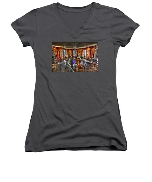 The Parlor Visit Women's V-Neck (Athletic Fit)