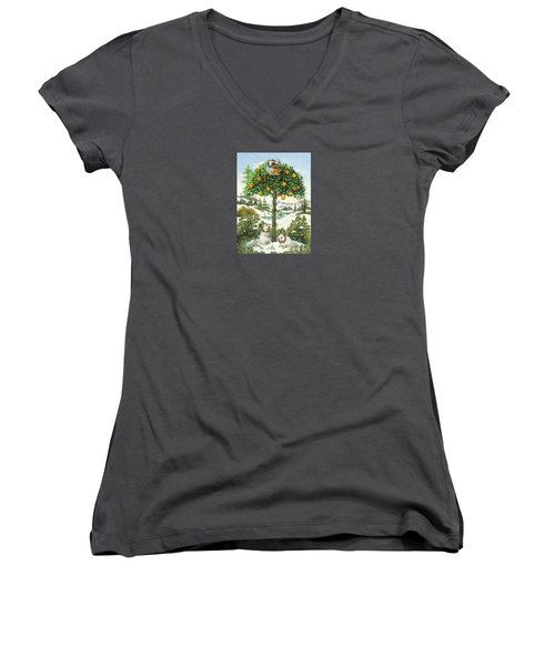 The Partridge In A Pear Tree Women's V-Neck