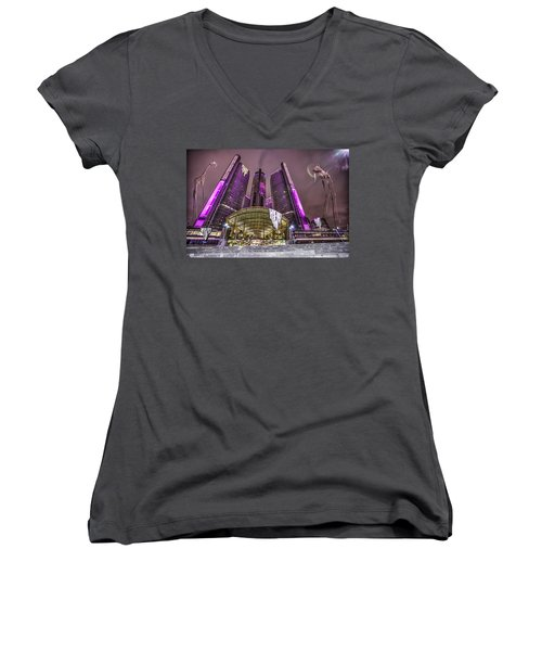 Women's V-Neck T-Shirt (Junior Cut) featuring the photograph The Persistence Of Time by Nicholas  Grunas