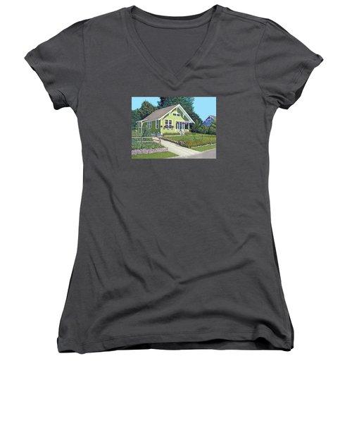 Our Neighbour's House Women's V-Neck T-Shirt (Junior Cut) by Gary Giacomelli