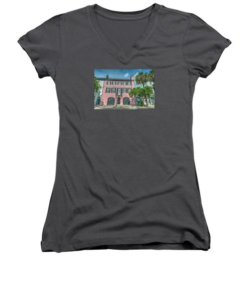 The Pink House Women's V-Neck