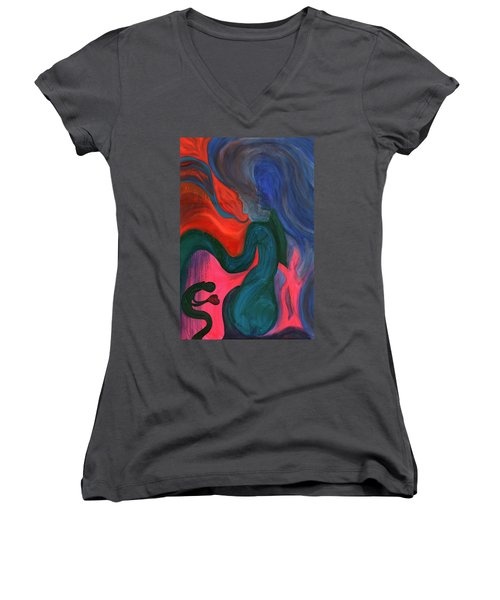 The Prince And The Dragons Women's V-Neck T-Shirt