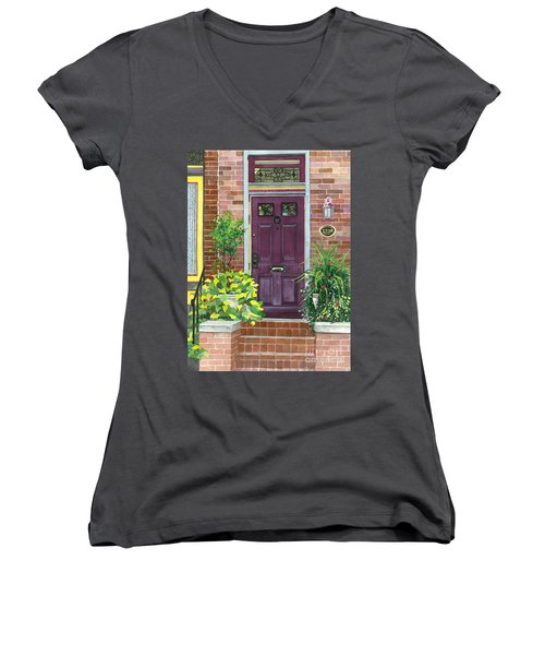 The Purple Door Women's V-Neck T-Shirt