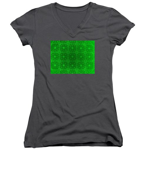 Women's V-Neck T-Shirt (Junior Cut) featuring the drawing The Quantum Realm by Jason Padgett