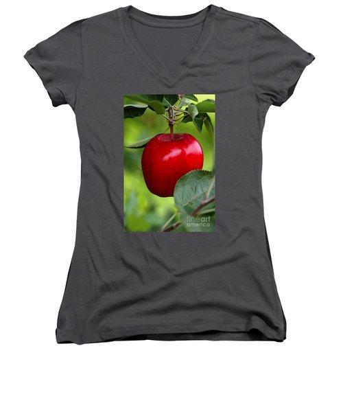 The Red Apple Women's V-Neck