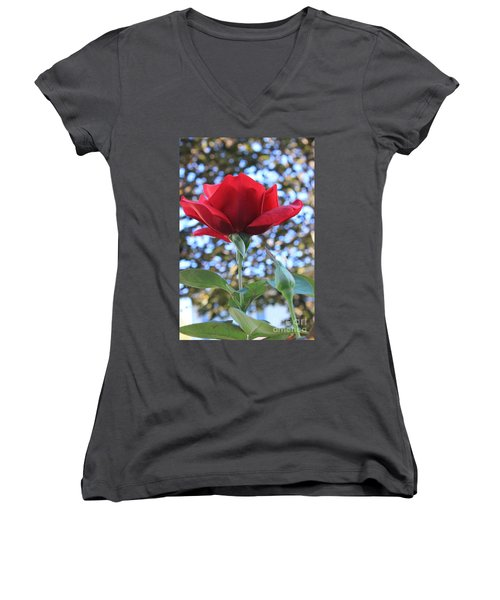 The Rose And Bud Women's V-Neck (Athletic Fit)