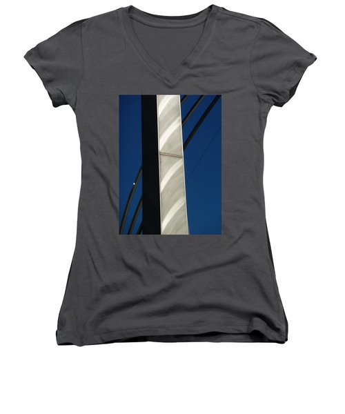 The Sail Sculpture  Women's V-Neck T-Shirt