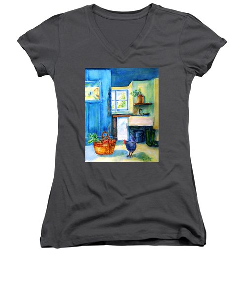 The Scullery  Women's V-Neck T-Shirt (Junior Cut) by Trudi Doyle
