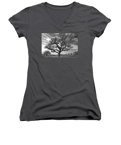 The Sentinel Bw Women's V-Neck (Athletic Fit)