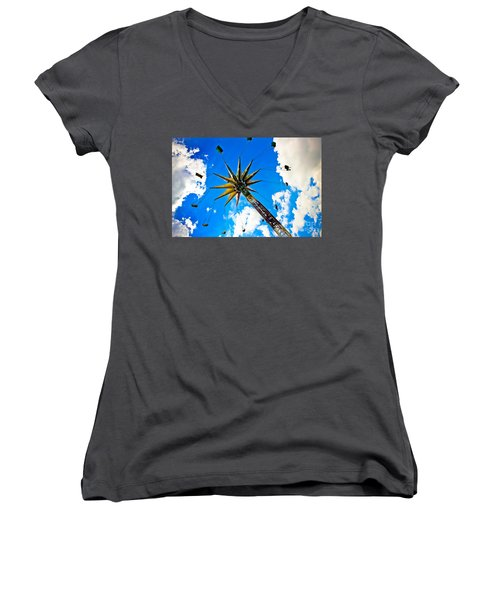 The Sky Flyer Women's V-Neck T-Shirt