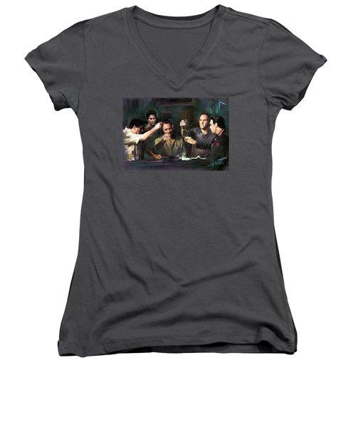 The Sopranos Women's V-Neck (Athletic Fit)