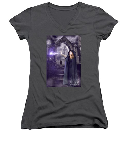 The Spell Is Cast Women's V-Neck (Athletic Fit)