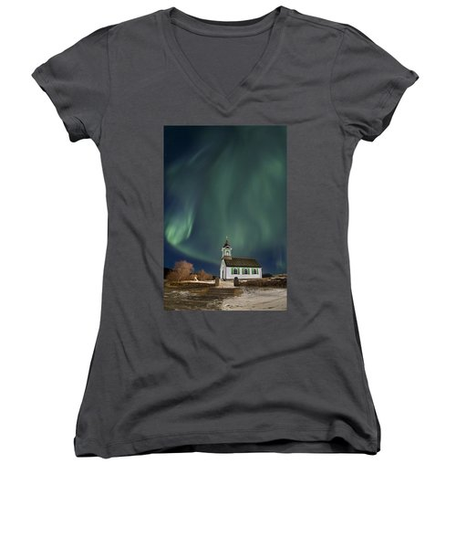 The Spirit Of Iceland Women's V-Neck T-Shirt