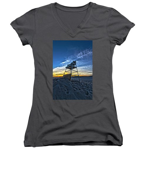 The Stand At Sunset Women's V-Neck