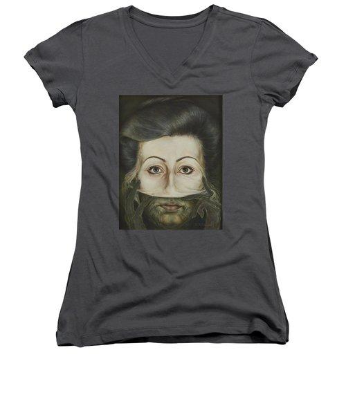 Strip Women's V-Neck T-Shirt