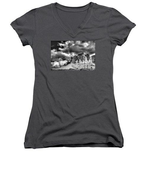 The Superstitions  Women's V-Neck T-Shirt (Junior Cut) by Saija  Lehtonen