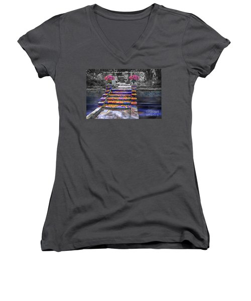 The Talk Version One Women's V-Neck (Athletic Fit)