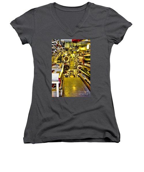 The Torpedo Bay Women's V-Neck T-Shirt (Junior Cut) by Jason Abando