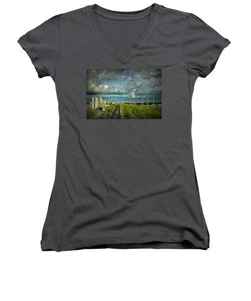 The Train Yard Women's V-Neck T-Shirt
