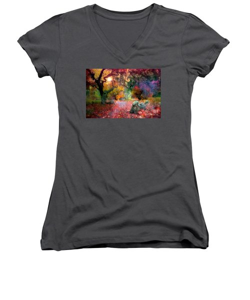 The Tree Where I Used To Live Women's V-Neck T-Shirt (Junior Cut)
