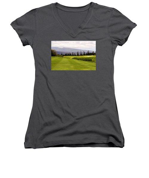 The View Women's V-Neck T-Shirt (Junior Cut) by Scott Pellegrin