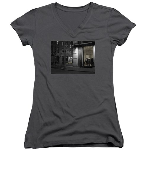 The Village Always New Women's V-Neck T-Shirt (Junior Cut) by Steve Archbold